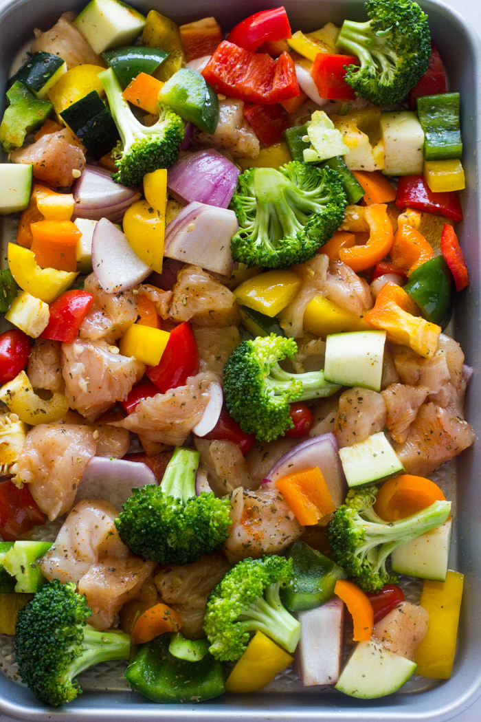 Baked Chicken And Vegetables  oven grilled chicken and ve ables