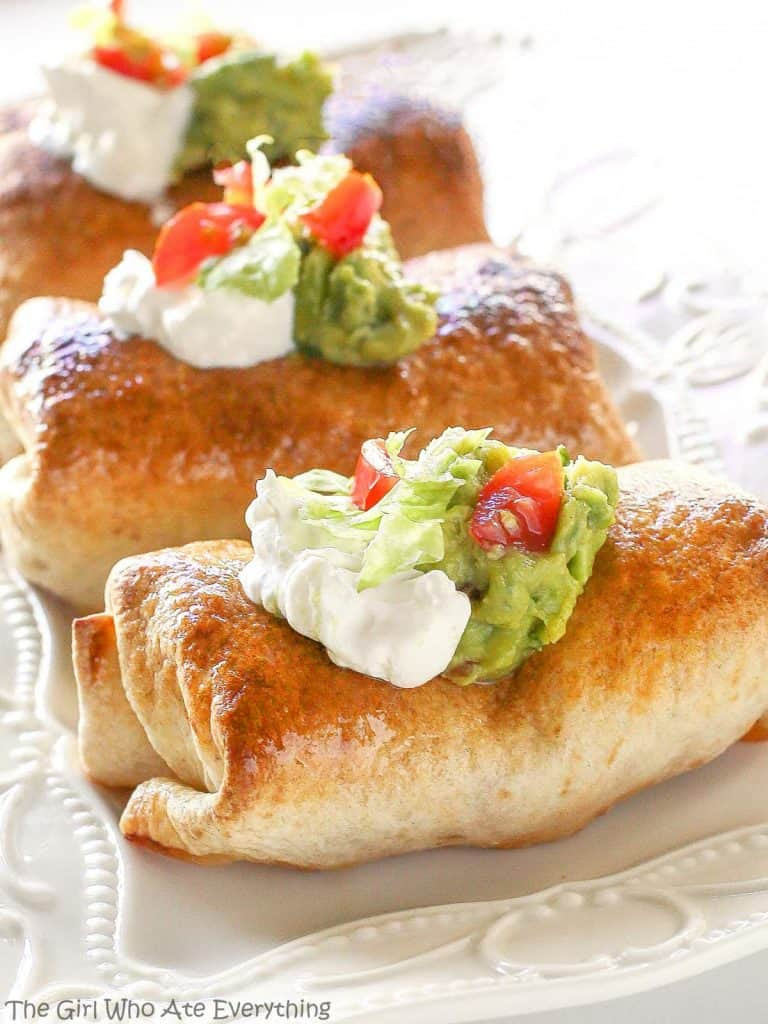 Baked Chicken Chimichangas  Baked Chicken Chimichangas