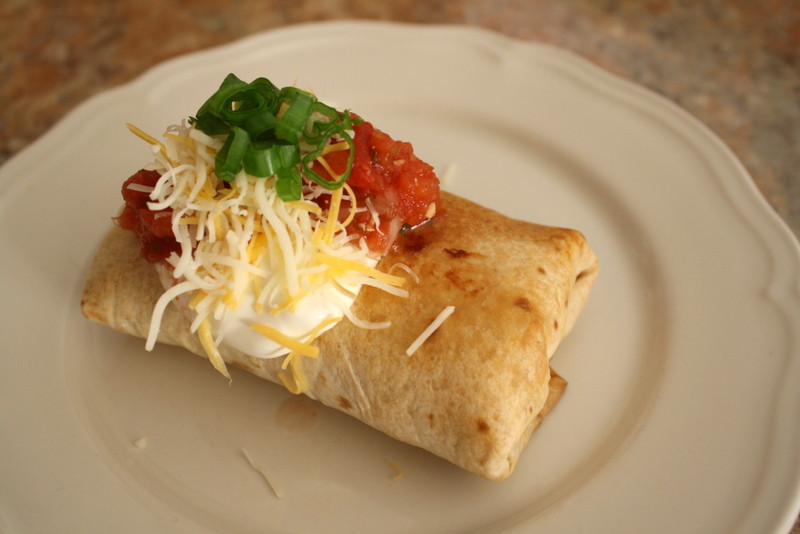 Baked Chicken Chimichangas  Baked Chicken Chimichanga