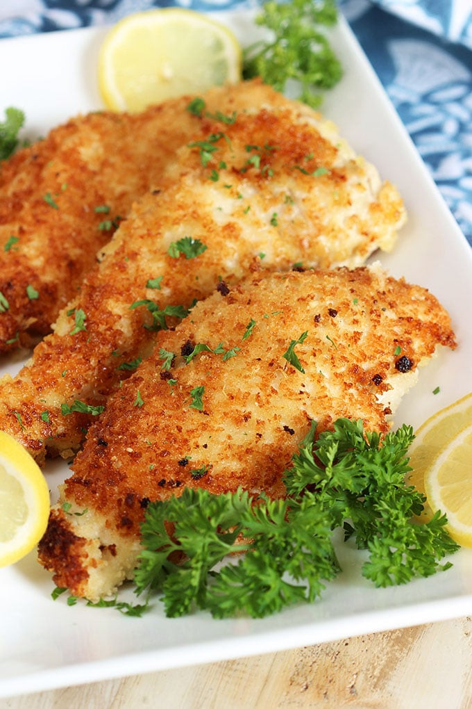 Baked Chicken Cutlet Recipes  parmesan crusted chicken cutlets