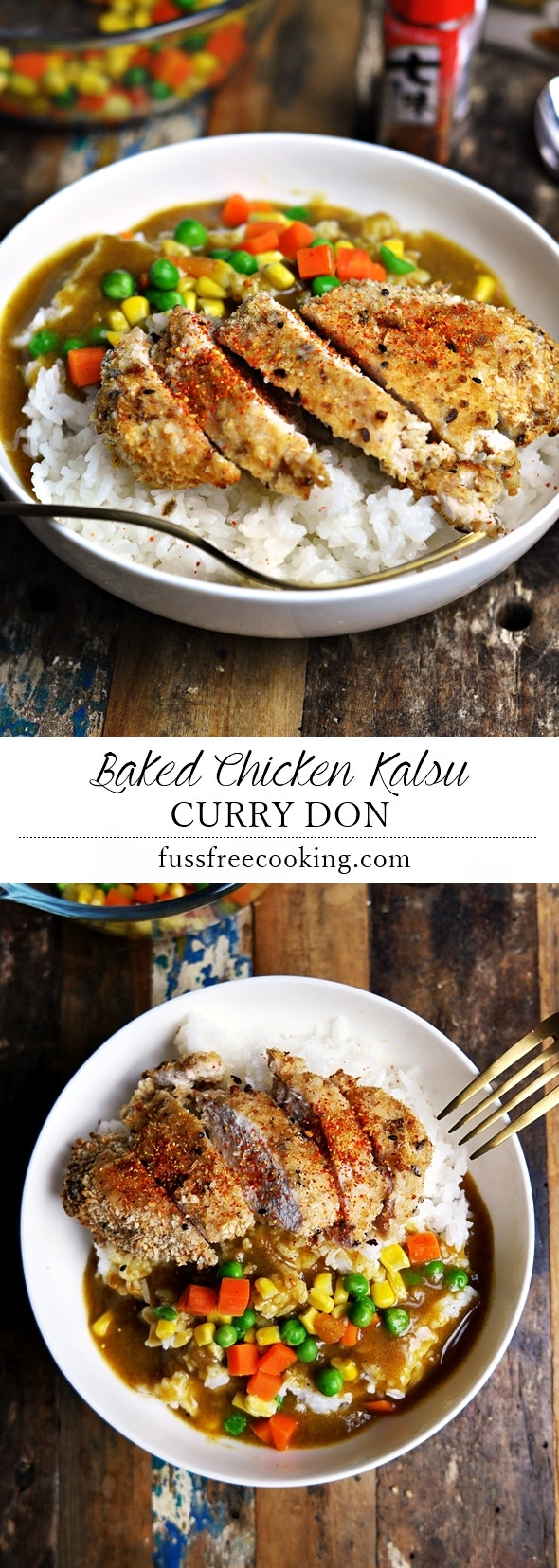 Baked Chicken Katsu  Baked Chicken Katsu Curry Don incl A Video Instruction