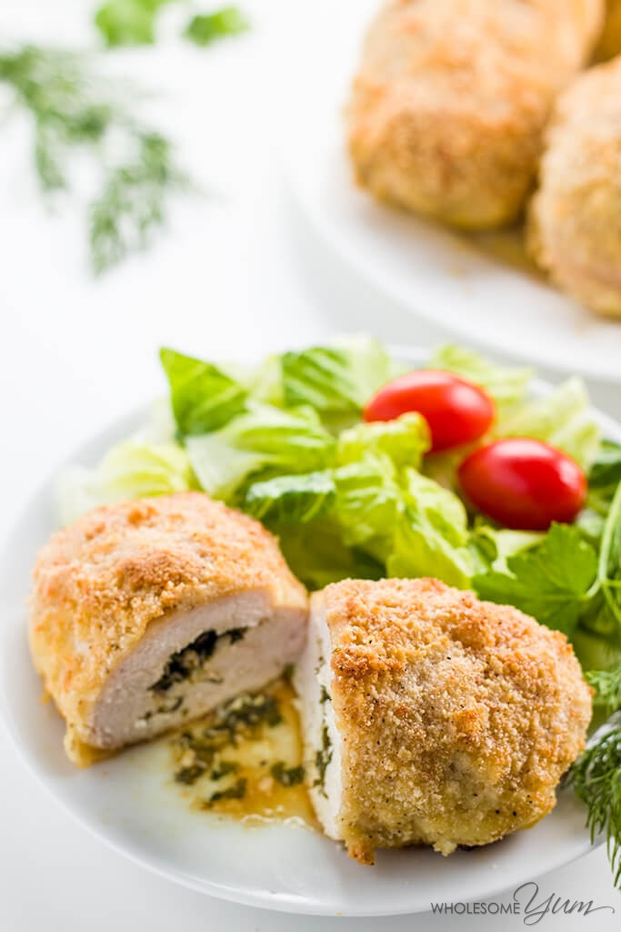 Baked Chicken Kiev  Easy Baked Chicken Kiev Low Carb Paleo & Gluten free