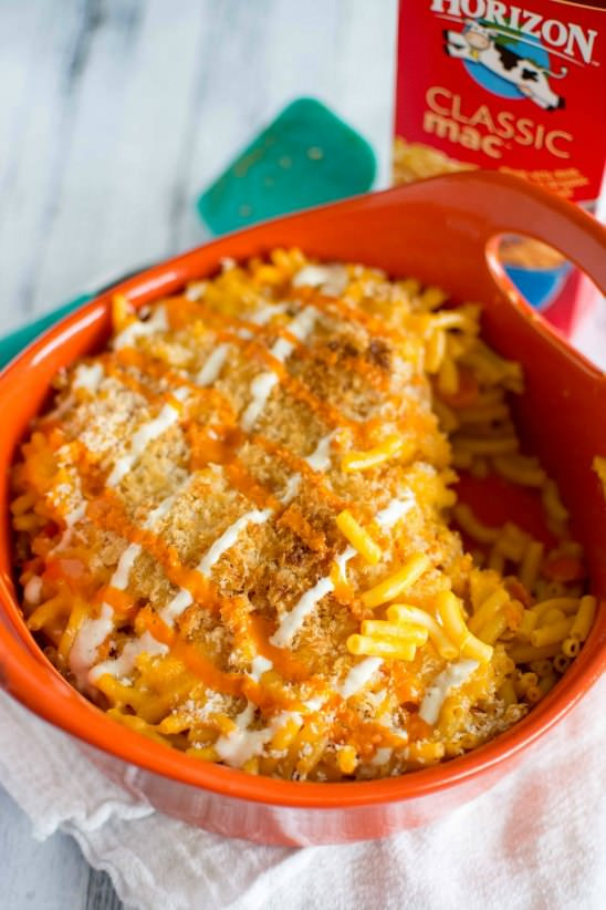 Baked Chicken Mac And Cheese  Easy Baked Buffalo Chicken Mac and Cheese Slow Cooker