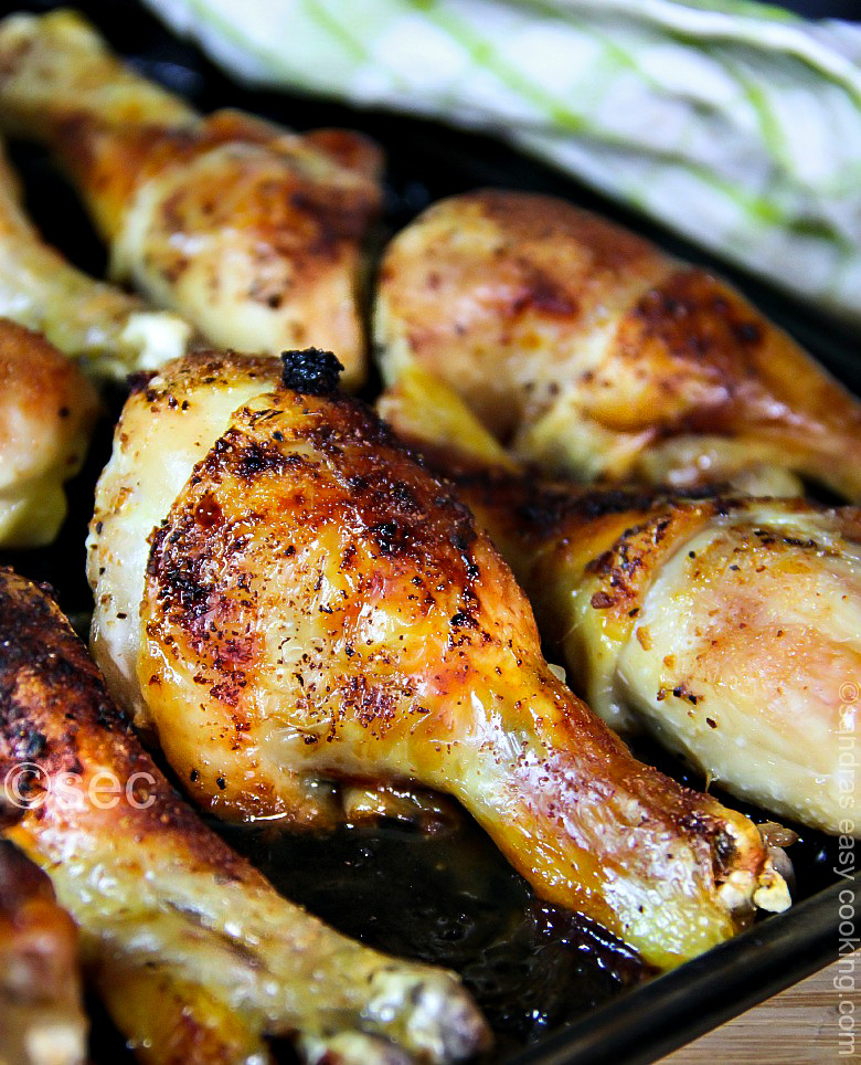 Baked Chicken Marinade  Marinated Baked Chicken Drumsticks video SANDRA S EASY