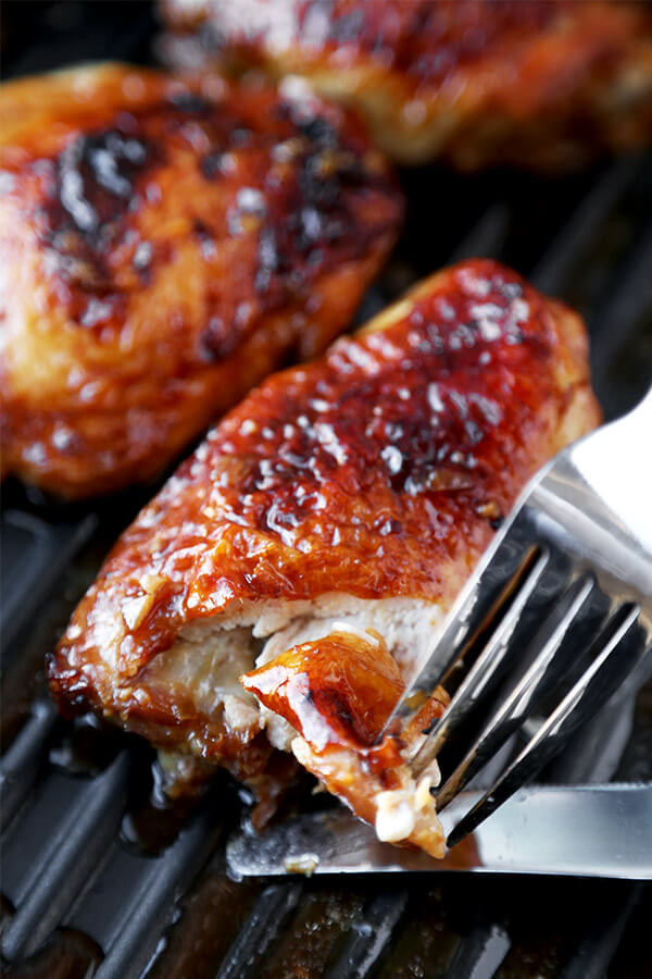 Baked Chicken Marinade  Baked Chicken Thighs with Soy Marinade Pickled Plum Food