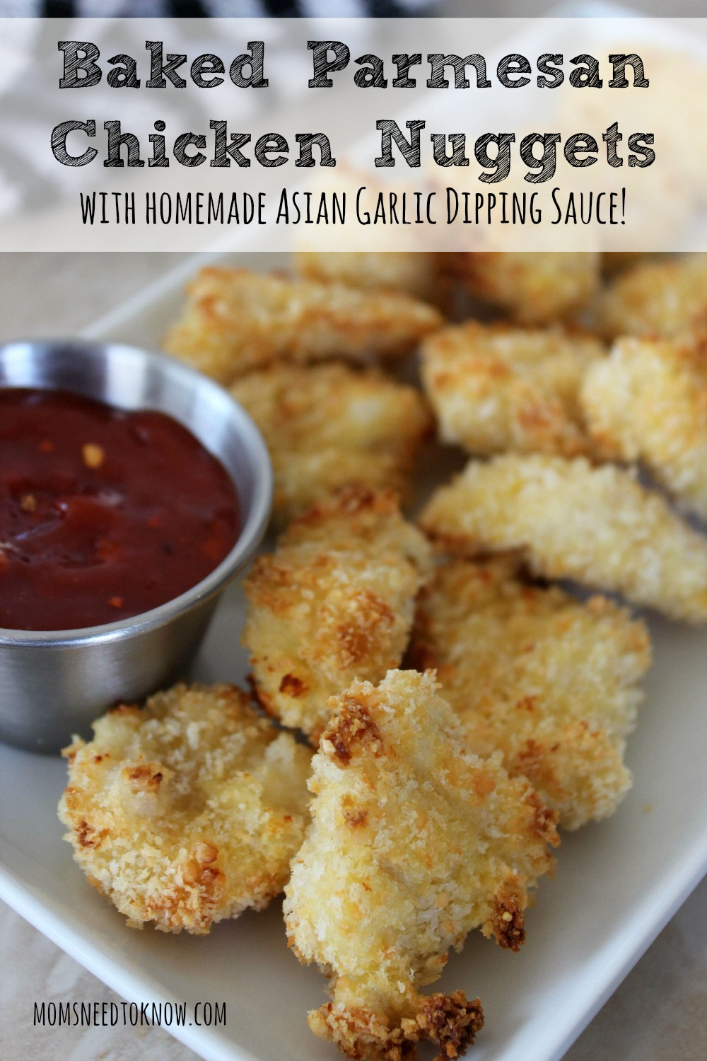 Baked Chicken Nuggets Recipe  baked parmesan chicken nug s