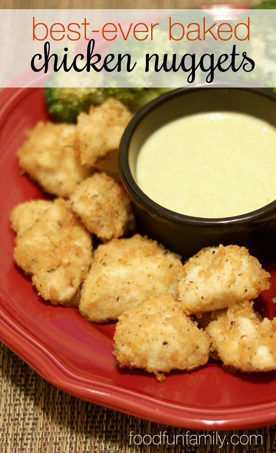 Baked Chicken Nuggets Recipe  Best Ever Baked Chicken Nug s