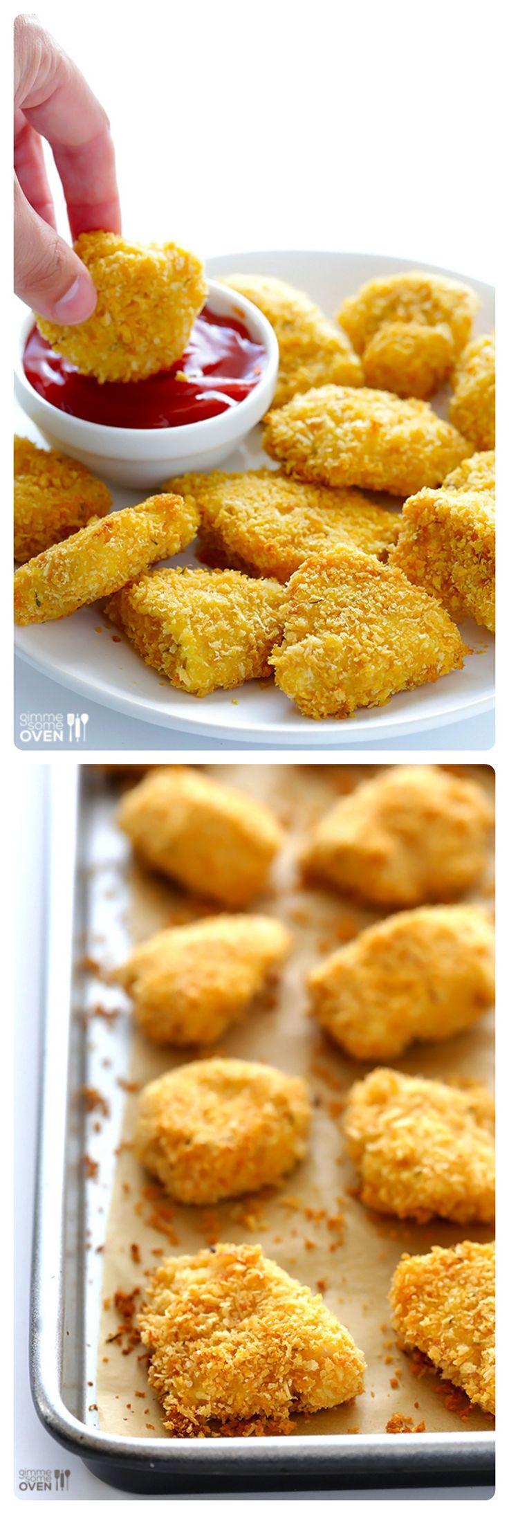 Baked Chicken Nuggets Recipe  Best 25 Chicken nug meals ideas on Pinterest