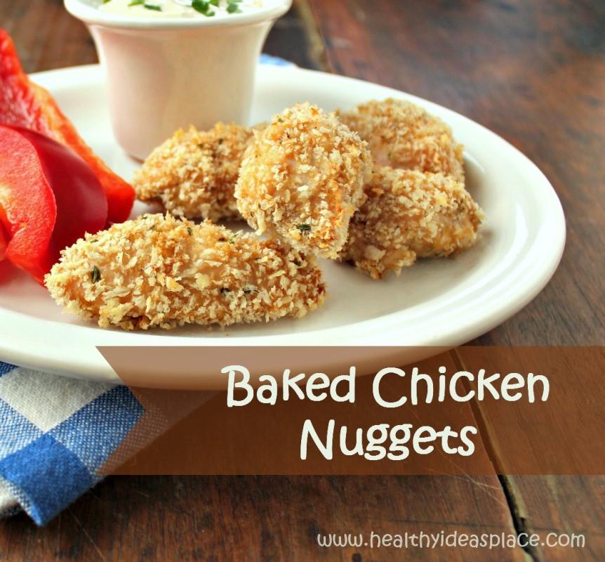 Baked Chicken Nuggets Recipe  Seasoned Baked Chicken Nug s Recipe — Dishmaps