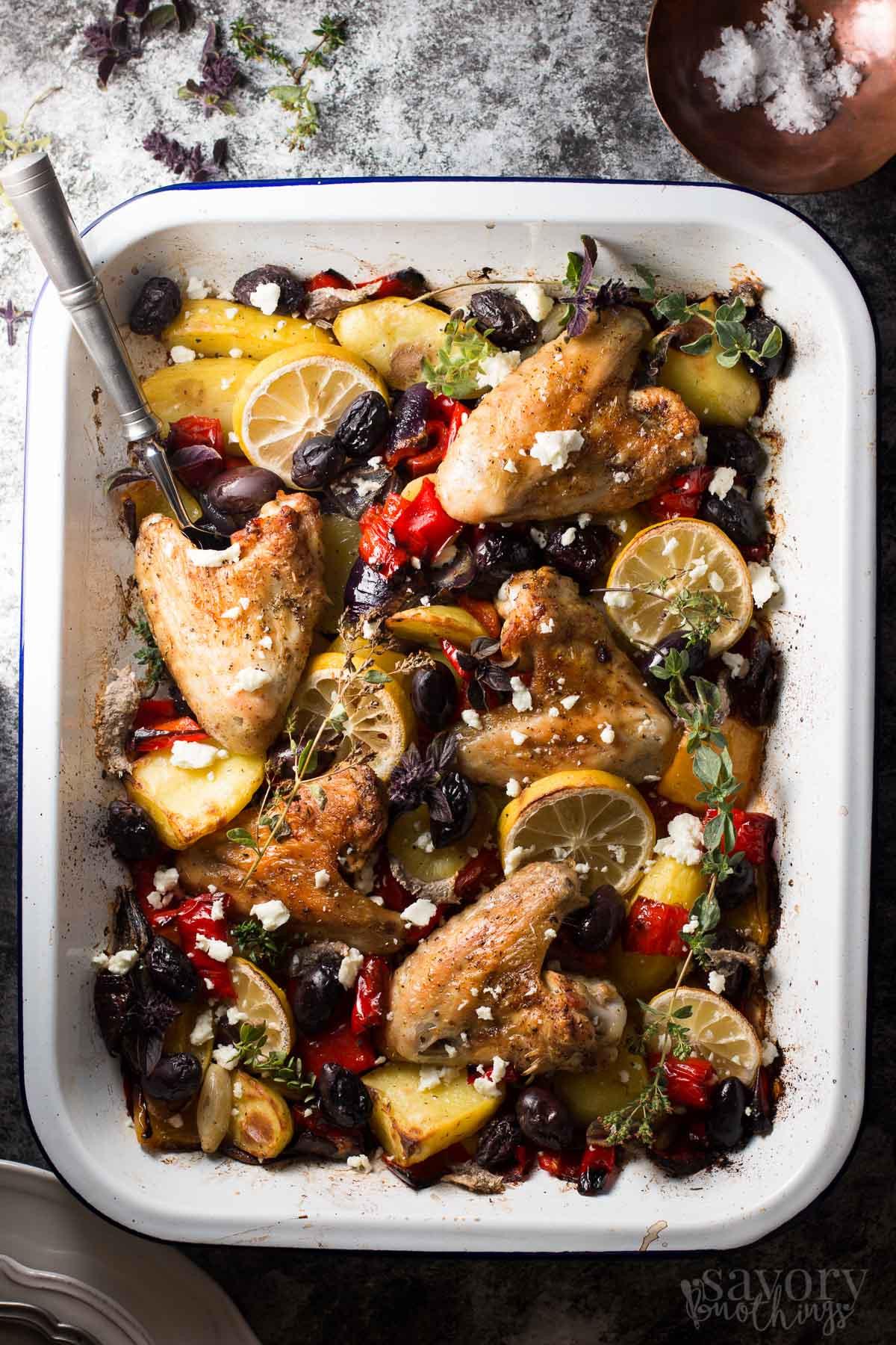 Baked Chicken Recipes For Dinner  Easy Baked Chicken Dinner Greek Lemon Chicken with Veggies