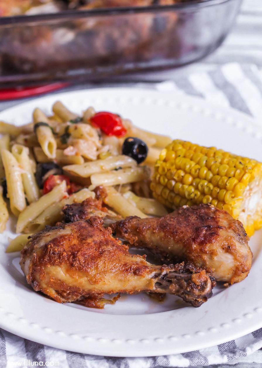 Baked Chicken Recipes For Dinner  Oven Baked Drumsticks Lil Luna