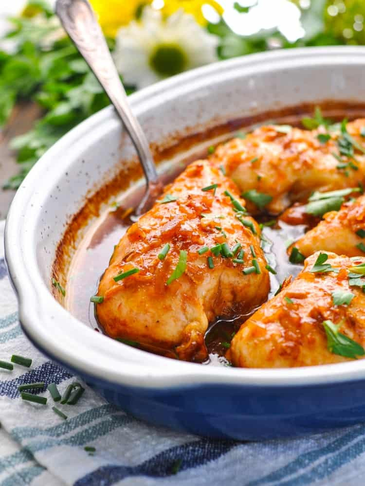 Baked Chicken Recipes For Dinner  5 Minute Honey French Baked Chicken Breasts The Seasoned Mom