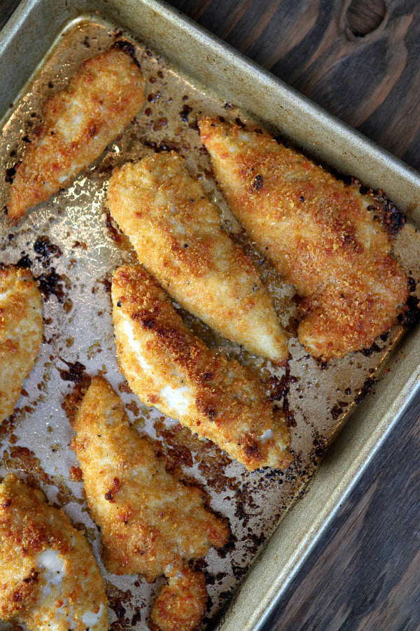 Baked Chicken Tender Recipes  Baked Parmesan Chicken Tenders