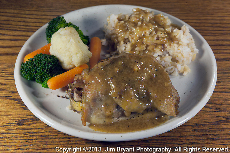 Baked Chicken Thighs And Rice  Baked Chicken thighs ve able melody brown rice and
