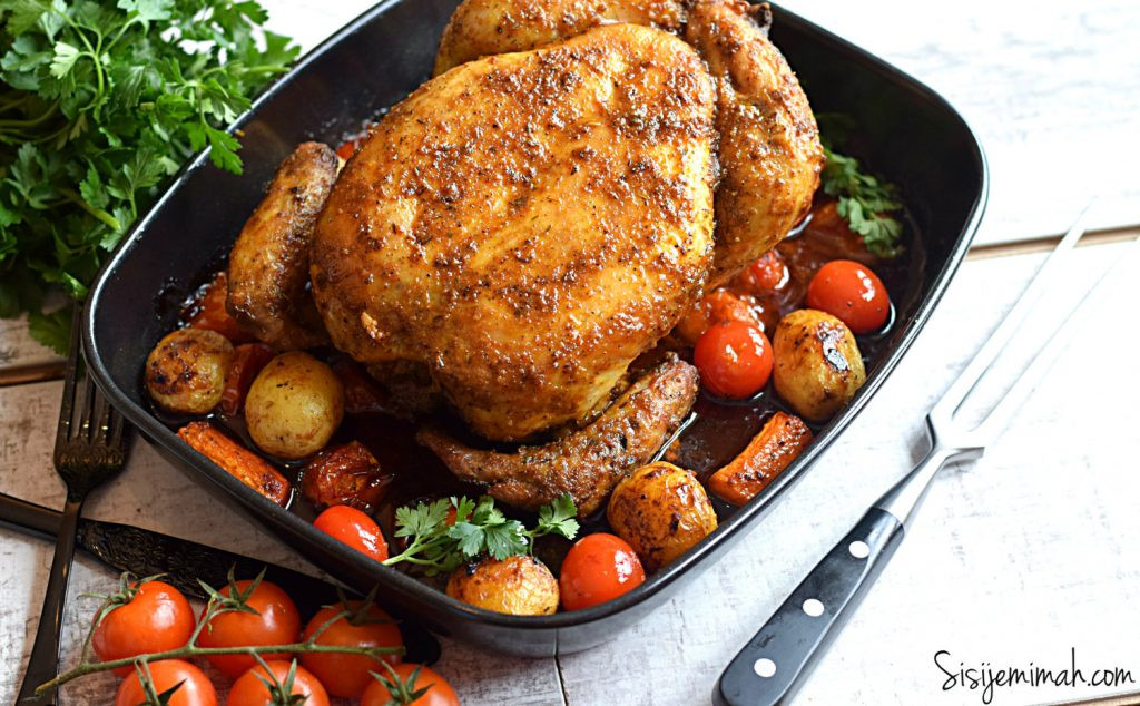 Baked Chicken Whole  oven baked whole chicken