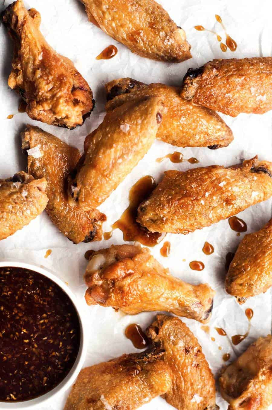 Baked Chicken Wings Crispy  Truly Crispy Oven Baked Chicken Wings with Honey Garlic