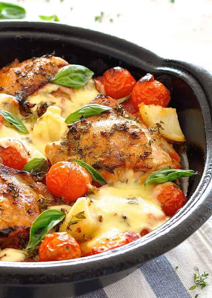 Baked Chicken With Italian Dressing  Italian Baked Chicken with Potatoes and Cherry Tomatoes