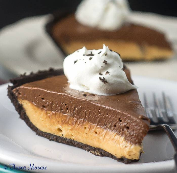 Baked Chocolate Pie  Chocolate Peanut Butter No Bake Pie Flavor Mosaic
