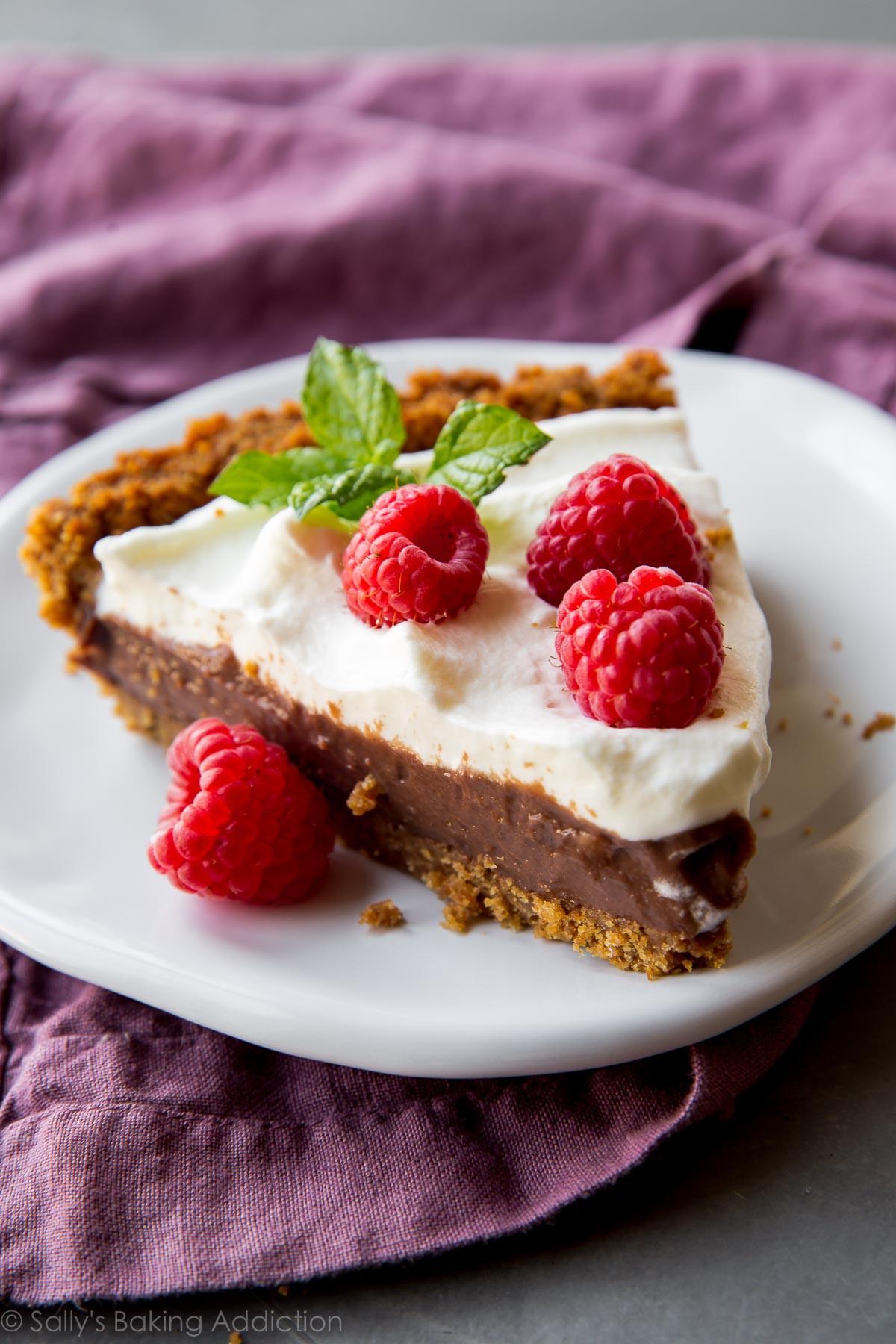 Baked Chocolate Pie  no bake chocolate pie with graham cracker crust