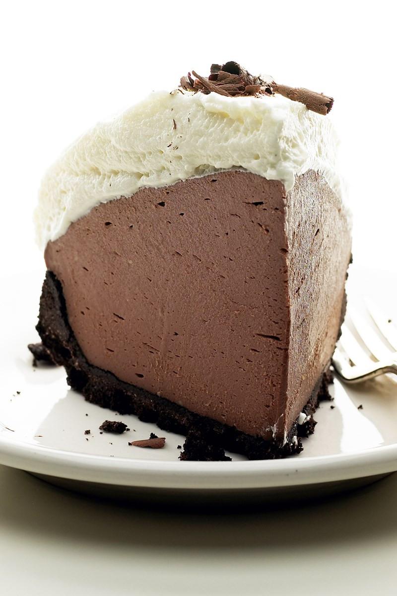 Baked Chocolate Pie  No Bake Chocolate Truffle Pie 5 Ingre nts