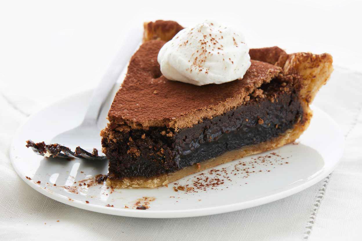 Baked Chocolate Pie  Chocolate Midnight Pie Recipe