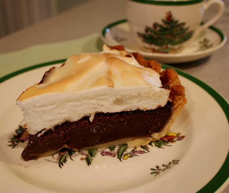 Baked Chocolate Pie  Everyday Finesse Baked chocolate pie