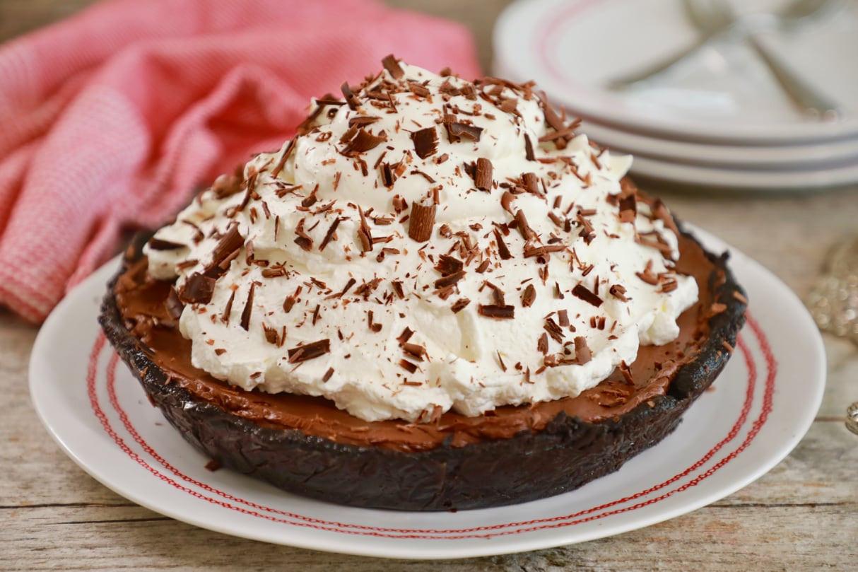 Baked Chocolate Pie  No Bake Recipes Archives Gemma's Bigger Bolder Baking