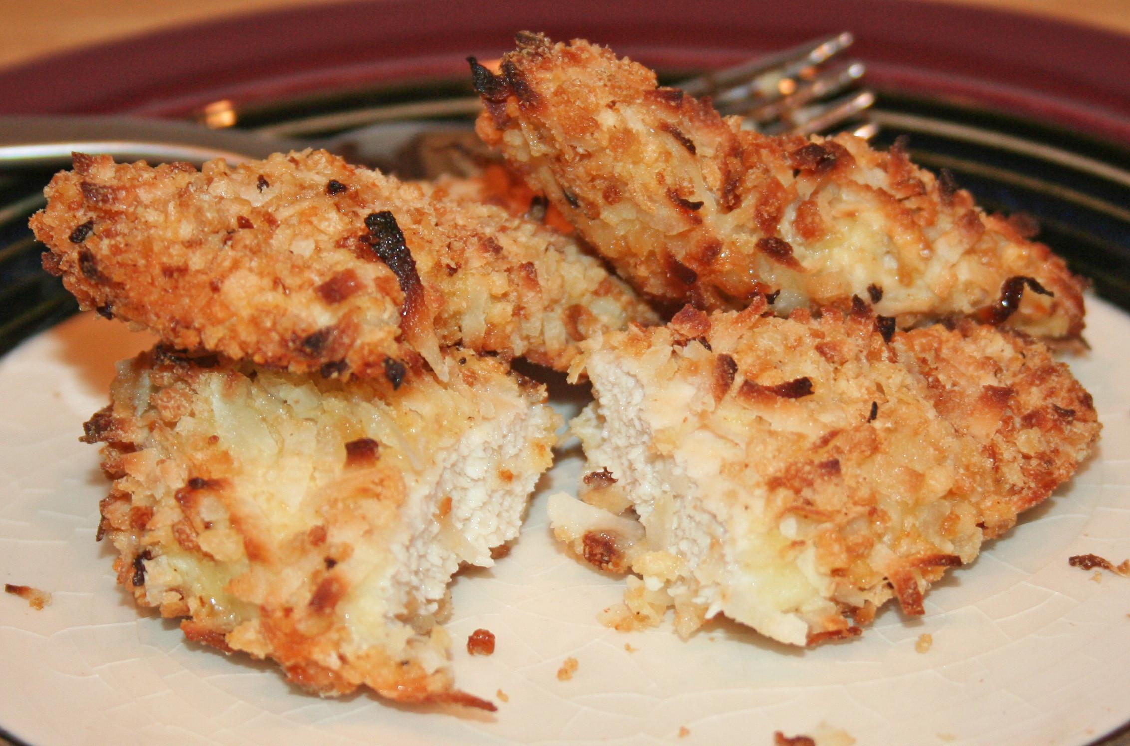 Baked Coconut Chicken  Baked Coconut Chicken Gluten & Dairy Free
