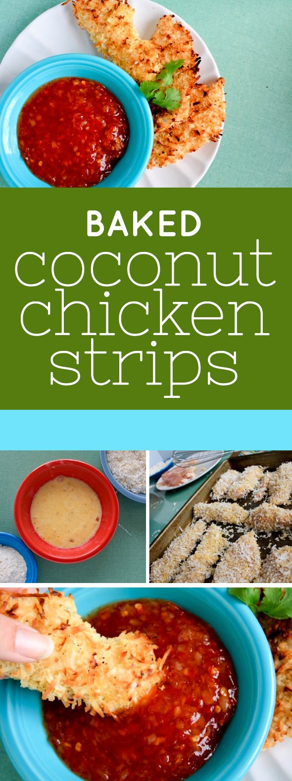 Baked Coconut Chicken  Baked Coconut Chicken Strips