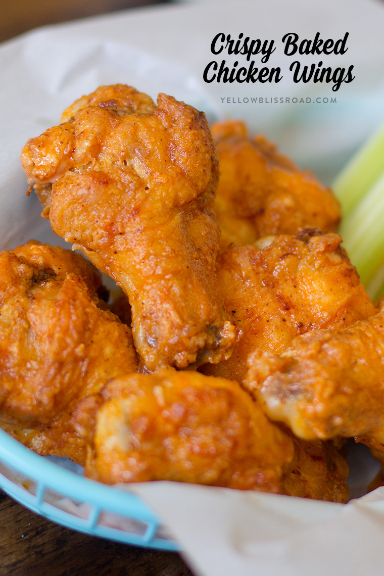 Baked Crispy Chicken Wings  BEST EVER Crispy Baked Chicken Wings with Buffalo Sauce