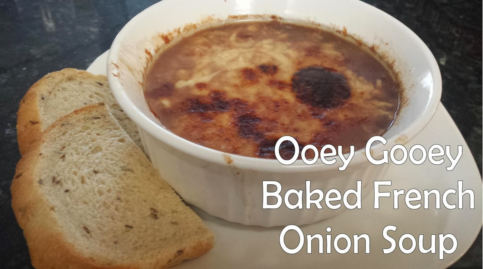Baked French Onion Soup  The Thrifty Italian Mama Baked French ion Soup