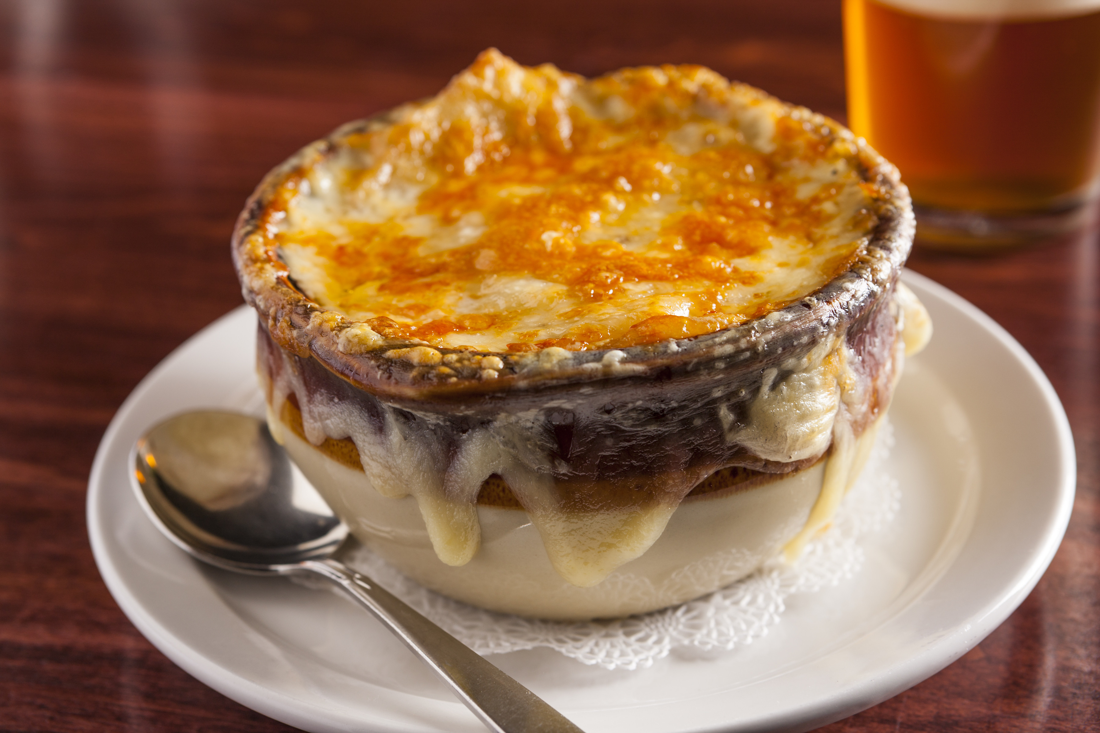 Baked French Onion Soup  Dinner Menu Sam s Steakhouse