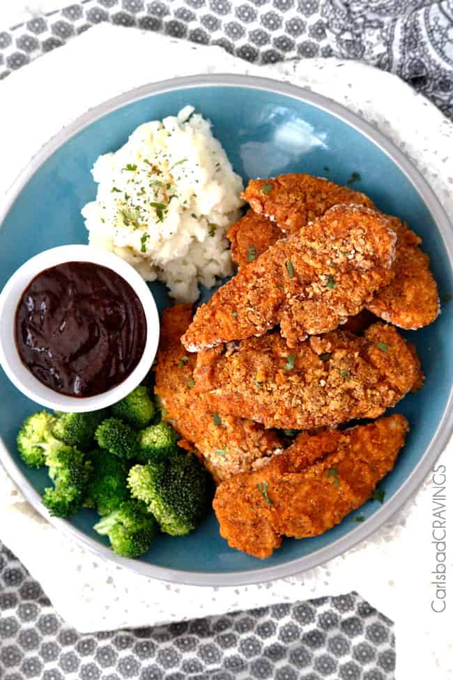Baked Fried Chicken  BEST EVER Crispy Oven Fried Chicken Video Carlsbad