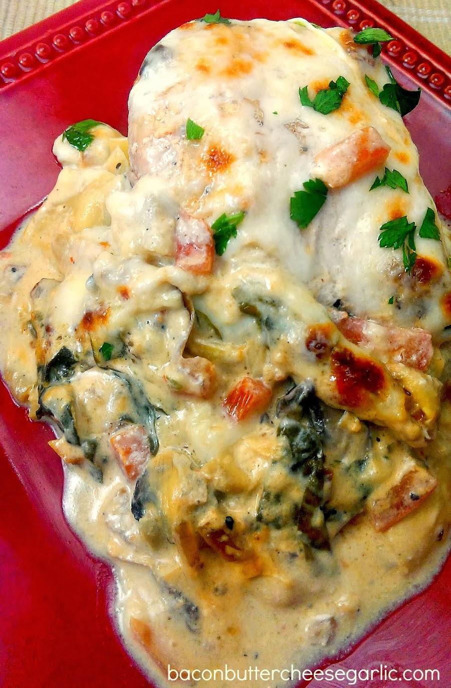 Baked Italian Chicken  Bacon Butter Cheese & Garlic 2013 Top Ten Recipes