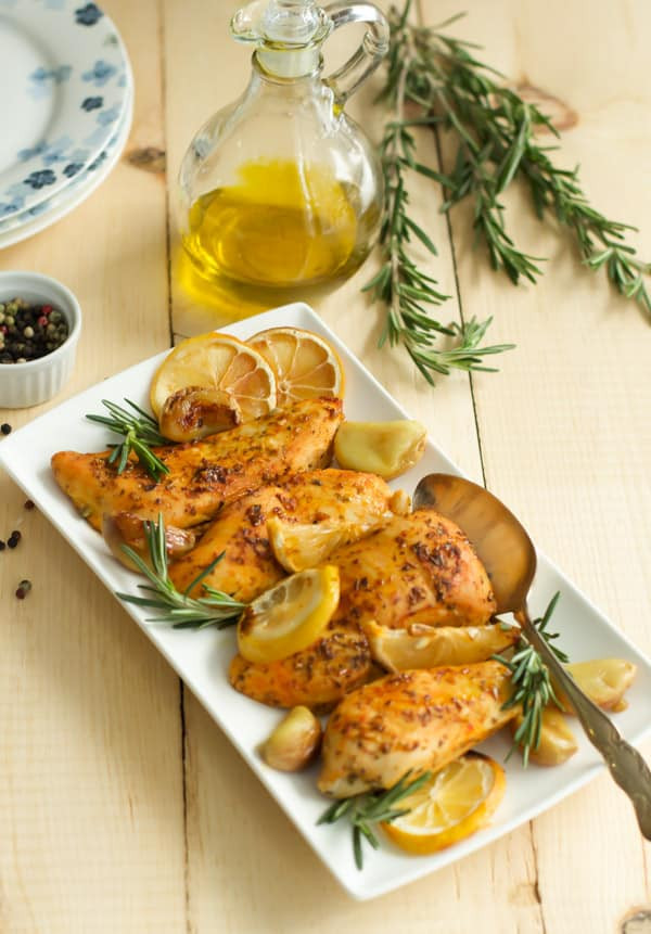 Baked Lemon Chicken Breast  Rosemary Lemon Roasted Chicken Breasts Primavera Kitchen