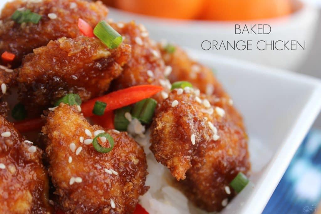 Baked Orange Chicken  Baked Orange Chicken