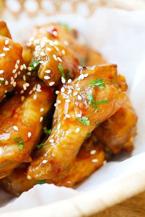Baked Orange Chicken  Crispy Baked Orange Chicken Wings Rasa Malaysia