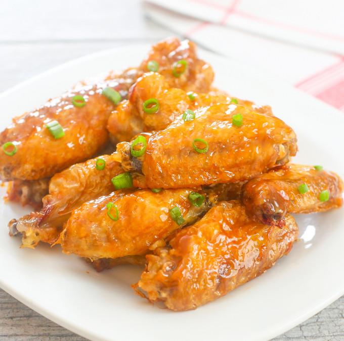 Baked Orange Chicken  Crispy Baked Orange Chicken Wings Kirbie s Cravings
