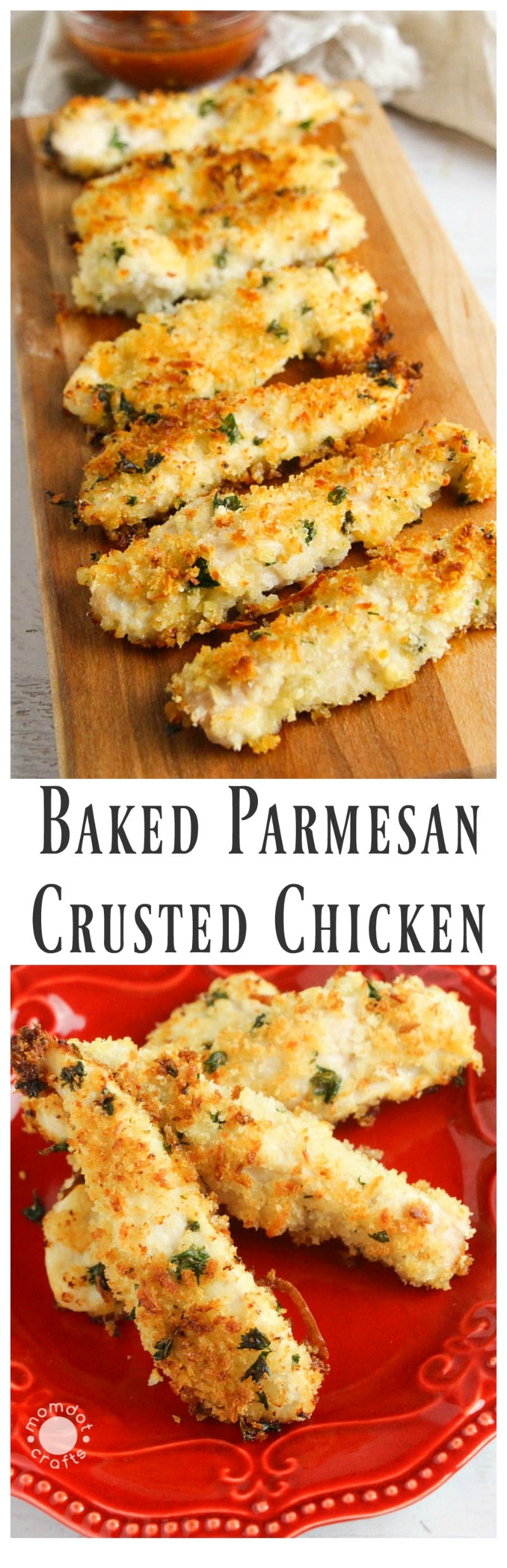 Baked Parmesan Crusted Chicken  Baked Parmesan Crusted Chicken Recipe MomDot