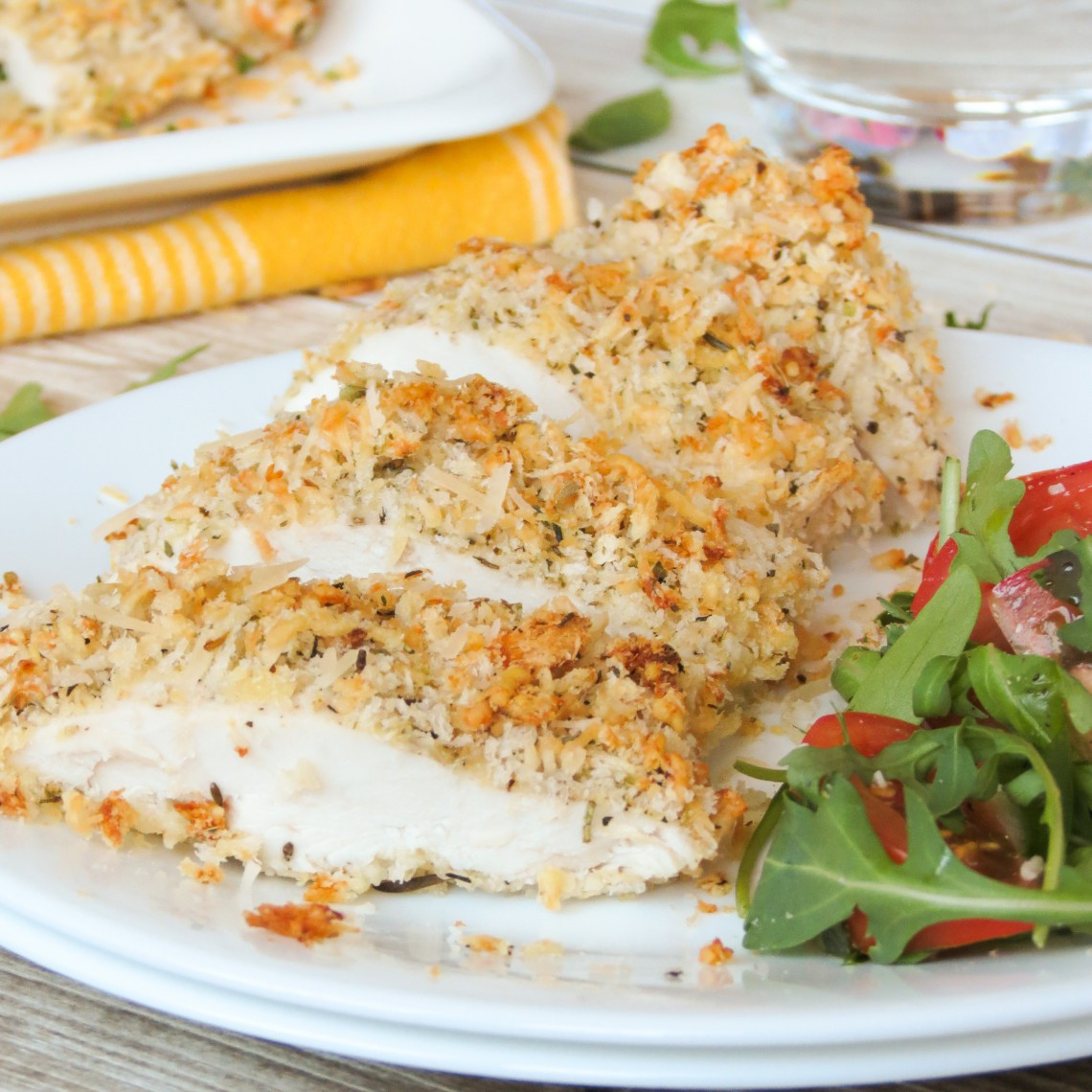 Baked Parmesan Crusted Chicken  Baked Parmesan Crusted Chicken Yummy Addiction