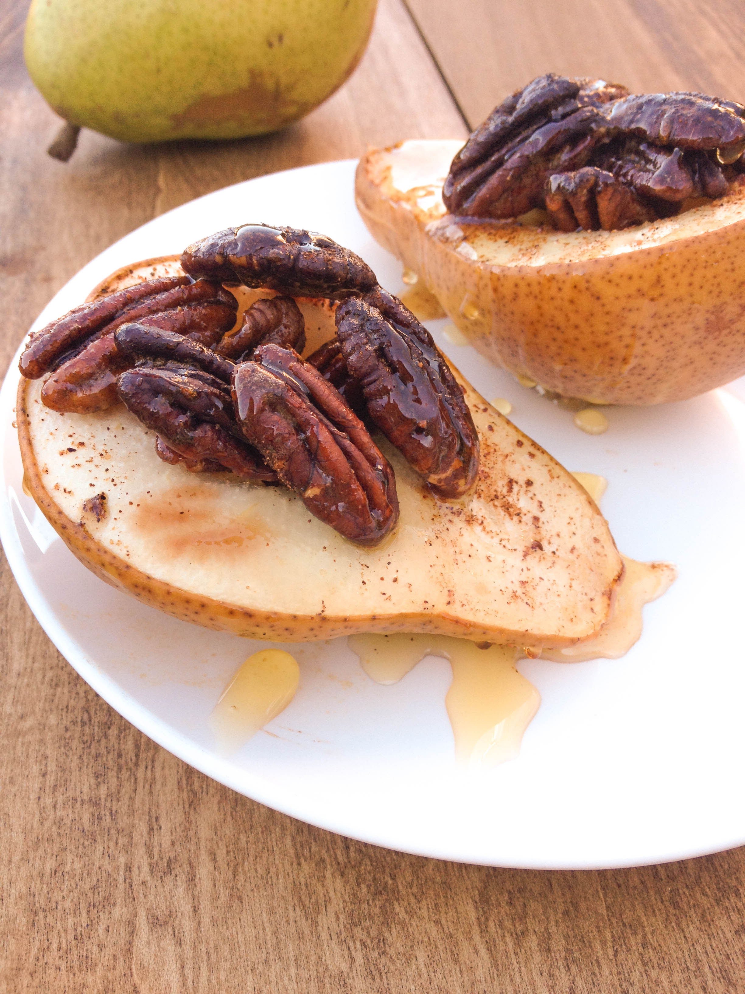 Baked Pear Dessert  Baked Pears with Honey and Roasted Pecans Fueling a Fit Fam