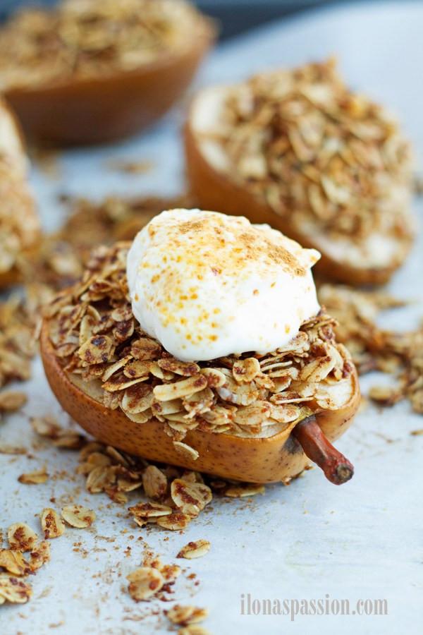 Baked Pear Dessert  Coconut Sugar Cinnamon Baked Pears Dessert Ilona s Passion