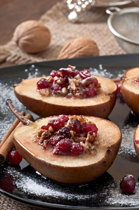 Baked Pear Desserts  Cardamom Baked Pears Stuffed with Cranberries and Raisins