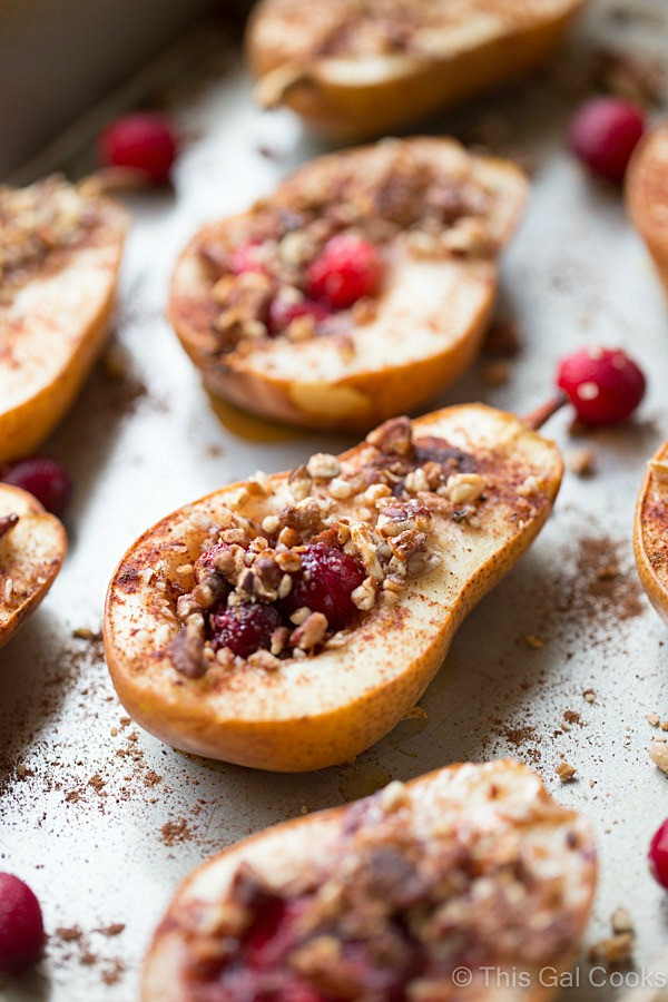 Baked Pear Desserts  Baked Pears with Honey Cranberries and Pecans