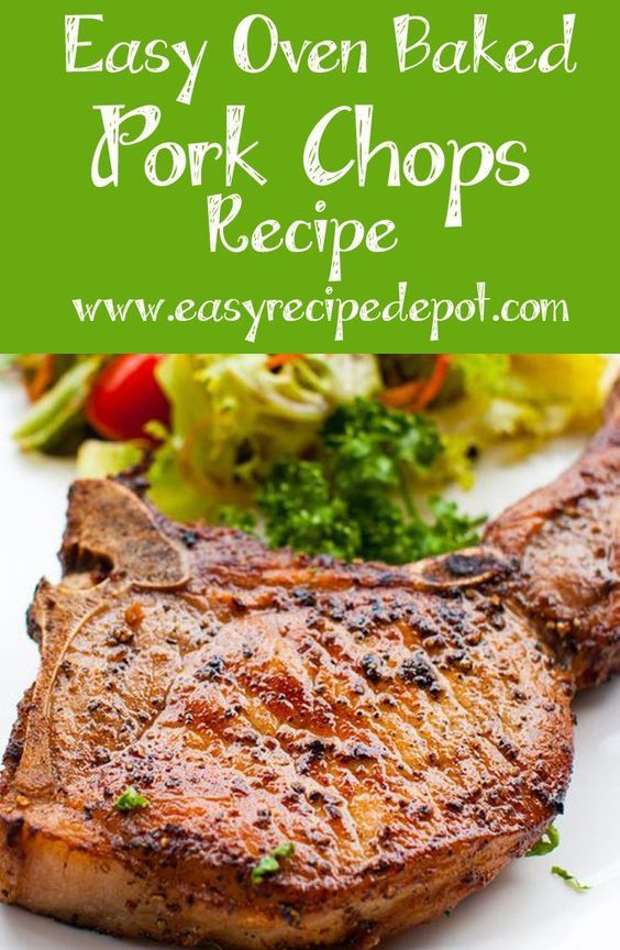 Baked Pork Loin Chops  baked bone in pork loin chops recipes