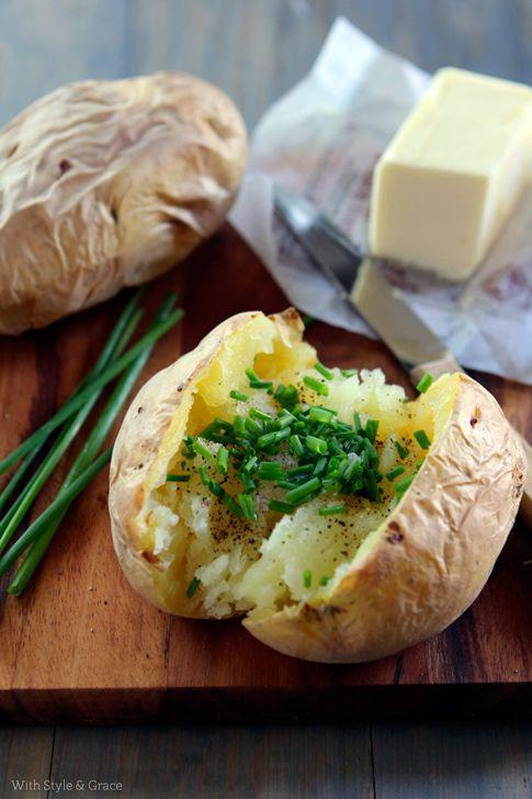 Baked Potato 400  BAKED Potato Preheat oven to 400 degrees F Scrub