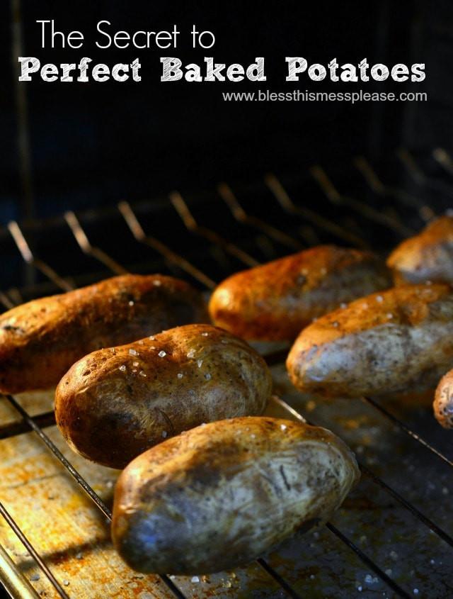 Baked Potato 400  How to Bake a Potato — Bless this Mess