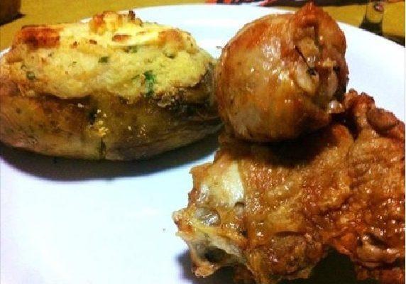 Baked Potato 400  Baked Potato e Frango à Pururuca Saborosa opção para a
