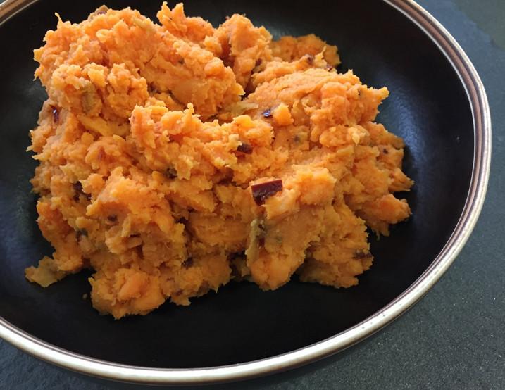 Baked Potato Alton Brown  Alton Brown s Chipotle Smashed Sweet Potatoes