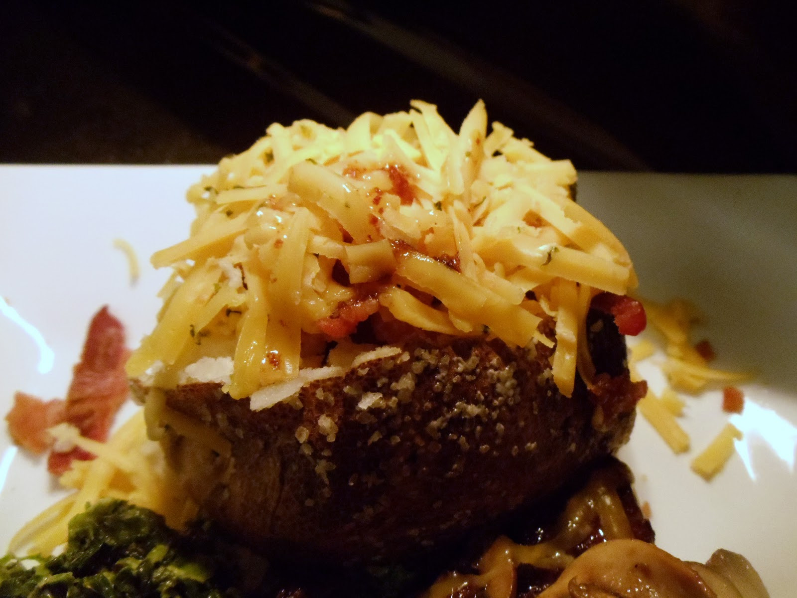Baked Potato Alton Brown  Filet Mignon with Sauteed Mushrooms The Baked Potato and